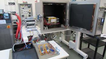 The test setup for the ESA/Azimut regolith. (Image Courtesy of ESA.)