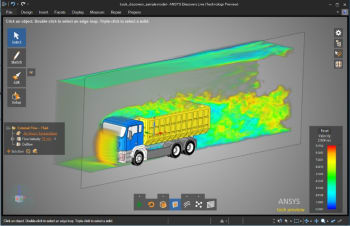 Preview of Discovery Live's UI has a streamlined view aimed at simplicity and easy of use. (Image courtesy of ANSYS.)