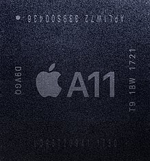 The Apple A11 Bionic system on a chip (SoC) has a built-in neural network. Adding machine learning onto mobile phone chips is a trend that will likely bleed into the IoT.