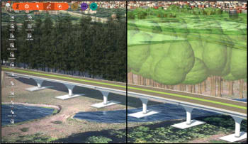 Simplified trees in InfraWorks can enhance the package's performance.