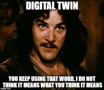 It is inconceivable to think a Digital Twin needs to flood a user with every conceivable piece of information about the physical twin. (Image created using imgflip.com)