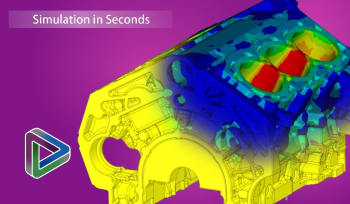 ANSYS Discovery Live promises users CAE results in seconds. This potential disruption will be hard to ignore in 2018. (Image courtesy of ANSYS.)