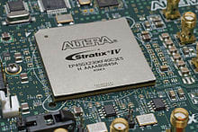 Stratix IV FPGA from Altera has been used in data processing applications. (Image courtesy of the Altera Corporation.)