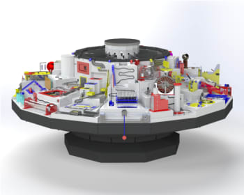 Figure 5. The Carousel of Physics assembly.