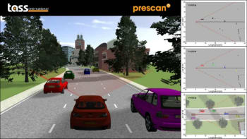 Simulation of LIDAR-based object detection and classification. (Image courtesy of Siemens PLM Software.)
