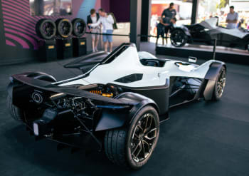 The BAC Mono R features new, 3D-printed air inlets that are lighter, more durable, and more cost-effective to produce than traditional inlets