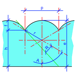 Diagram example of  the refraction of a ray passing through a lenticular lens. (Image source: Wikipedia/ Soulier)