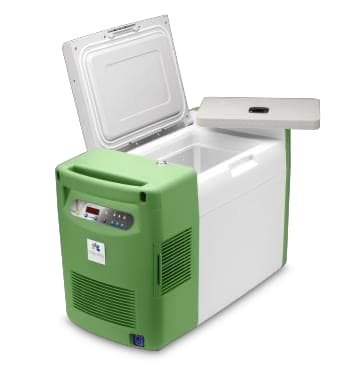 The Global Cooling Stirling Ultracold portable ULT25NEU ultra-low temperature freezer. (Image courtesy of Global Cooling.)