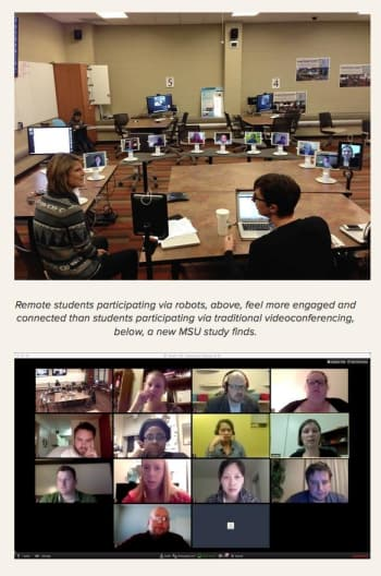 Robot learning could be the wave of the future for online classes. (Image courtesy of Michigan State University.)
