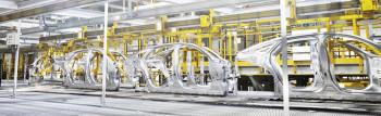 A Jaguar Land Rover production line