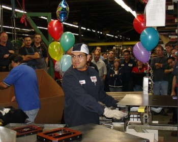 A manufacturing team gathers for a Kaizen Event. (Image courtesy Manor Tool.)