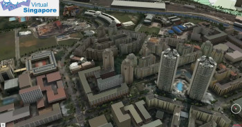 The Virtual Singapore project will see the entire city as a 3D model like the one pictured here. (Image courtesy of TODAYonline/YouTube.)