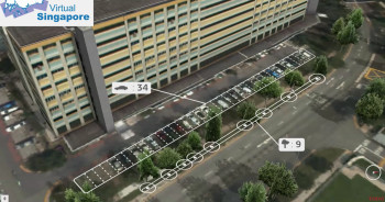 The smart city model will increase the role of digital technologies in solving infrastructure issues, including those of parking and green spaces. (Image courtesy of TODAYonline/YouTube.)