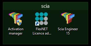 Figure 2: Scia Engineer desktop icons.