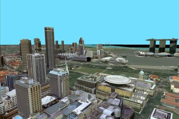 For Singapore's 3D modeling project, the entire nation will be scanned in high-resolution 3D and stored in multiple formats. (Image courtesy of Singapore Land Authority.)