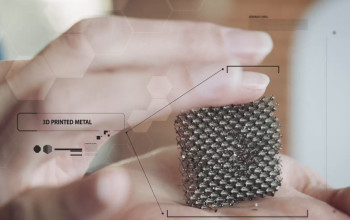 The microlattice, shown here, is capable of compressing and returning to its original state. (Image courtesy of Wired.)