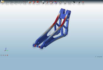 Part is optimized for manufacturing processes other than 3D printing. Image courtesy of Altair.
