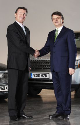 "WHEN THE CONTRACT WAS SIGNED. In March 2011, Dassault Systèmes' Bernard Charles and JLR's CEO Ralf Speth signed the agreement as a ""strategic partnership."""