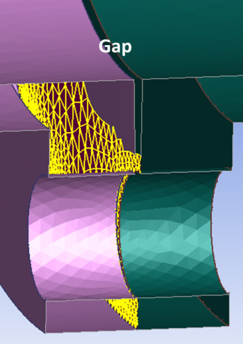 Avoid incorrect joins and improve mesh efficiency by ignoring parallel faces. (Image courtesy of ANSYS.)