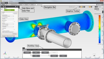 Screenshot of ANSYS AIM simulation software, one of the platforms for which ANSYS plans to offer a student version available to university and college students.