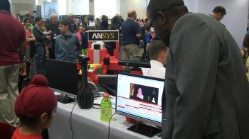 Youth learns how to use ANSYS technology at USASEF.