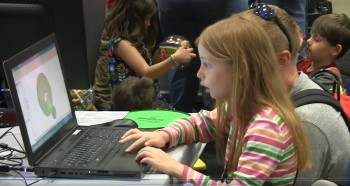 Youth plays with ANSYS technology at the USASEF.