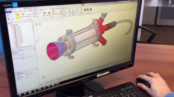 Screenshot of ANSYS SpaceClaim simulation software.