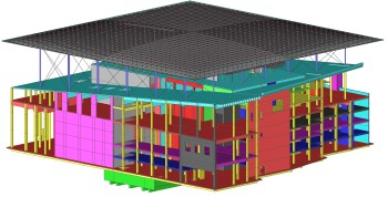 Athens Opera House modeled in Scia Engineer with seismic isolation. Building designed by Renzo Piano.