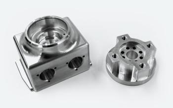 CNC machined parts. (Image courtesy of Xometry.)