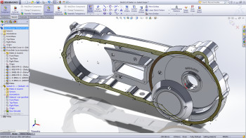 Making sure a new CAM system is compatible with the existing CAD system is a common pain point. Users of the most common CAD software for making mechanical parts — SOLIDWORKS, by Dassault Systèmes, shown here — have to hope its models are understood by CAM software created by other vendors. (Image courtesy of Dassault Systèmes.)