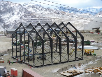 Even a remote location in the Andes will still need the best structure available. (Image courtesy of Legacy Building Solutions.)