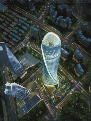 Before construction, Gensler and the Shanghai Tower team used BIM to model the structure to perform analyses and to preview the final product. (Image courtesy of Gensler.)