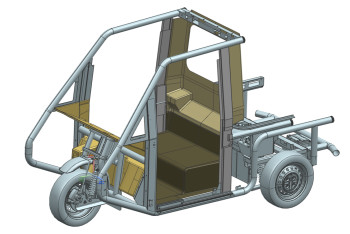 CAD drawing of the Westward Industries GO-4 vehicle frame. Image courtesy of CIC.
