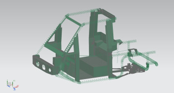 Mesh of the Westward Industries GO-4 vehicle frame. Image courtesy of CIC.