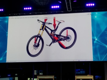 PTC Digital Twin features IoT data on Creo. Image taken at LiveWorx 2015.