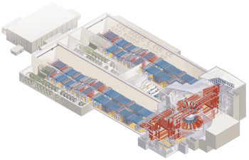A schematic of the NIF facility.