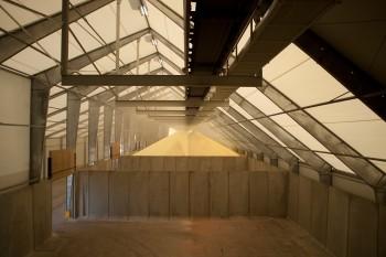 IEI Barge fertilizer potash port terminal. (Image courtest Legacy Building Solutions.)