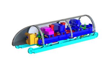 A rendering of MIT's Hyperloop pod design. (Image courtesy of MIT Hyperloop Team.)