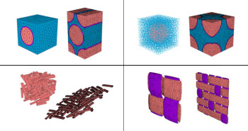 Various materials simulated by the Multiscale Designer. (Image courtesy of Altair.)
