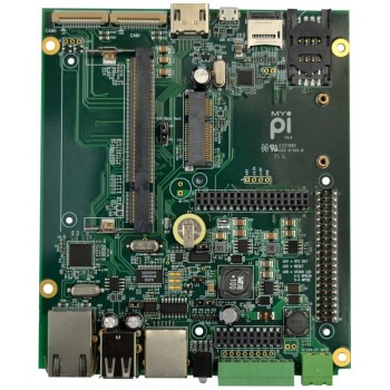 MyPi aims to be a low-cost and feature-rich motherboard for IoT applications. (Image courtesy of Embedded Micro Technology).