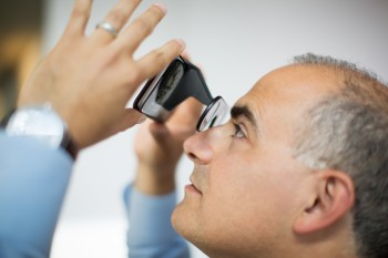The VR platform from Visual Vocal will use a device similar to Google Cardboard to display models in VR before they're ever built. (Image courtesy of NBBJ.)