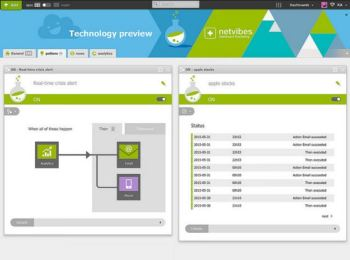 Creating a Netvibes Potions to control an IoT device. (Image courtesy of Dassault Systèmes Netvibes.)