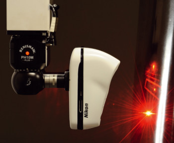 Nikon's InSight L100 CMM laser scanner. (Image courtesy of Nikon.)