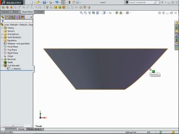 Flattening Cone-Shaped Sheet Metal in SOLIDWORKS - CAD