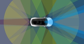 All of Tesla's cars will have self-driving hardware onboard. Will it ever be switched on? (Image courtesy of Tesla.)