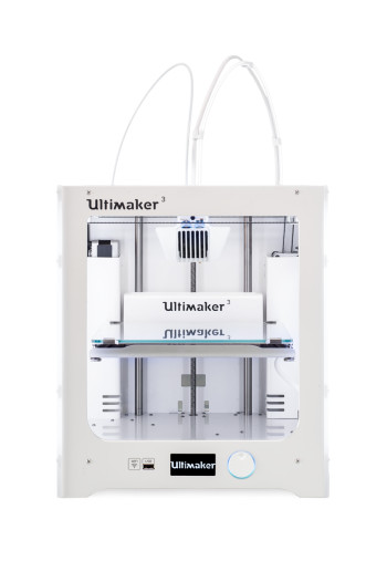 The Ultimaker 3 3D printer has just been released. Notice anything different? (Image courtesy of Ultimaker.)
