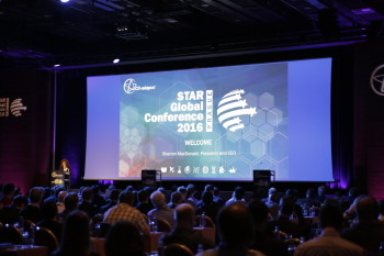 Sharron MacDonald, CEO of CD-adapco tells STAR Global Conference 2016 crowd that SIEMENS PLM acquisition is a win for both companies and the customers. (Image courtesy of CD-adapco.)