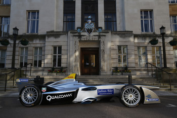 Roborace competitors will modify standard-issue electric race cars like this one into autonomous racing machines. (Image courtesy of Formula E.)