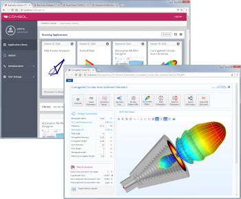 COMSOL Server runs stand-alone simulation apps over the cloud. These apps are packaged with the CAE platform under the hood so the builder creates the full user experience. Quite a responsibility. (Image courtesy of COMSOL.)