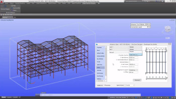 Steel Structure Designer lets users create models quickly with easily edited building attributes and copy-paste functions. (Image courtesy of GRAITEC.)